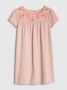 f933fa629 Gap Girls' Embroidered Shift Dress Willow Pink Growing Up Girl, Sewing For  Kids,