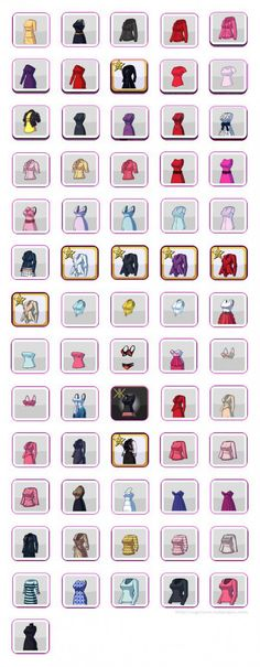 Kim Kardashian: Hollywood Game Clothing Guide - Shirts, Dresses & Outfits (Hearts)