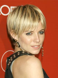 Celebrity Short Hair Style Especially Blonde Short Hair Cuts With Image Sienna Miller Short Hair Gallery Pictures 6