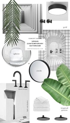 Urban contemporary bathroom design by My Paradissi | Concept Board