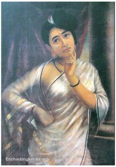 Raja Ravi Varma Paintings: Raja Ravi Varma was an Indian artist from Kerala. Mf Hussain Paintings, Ravivarma Paintings, Indian Art Paintings, Indian Artwork, Famous Indian Artists, Raja Ravi Varma, Indian Traditional Paintings, Vintage India, Painting Of Girl