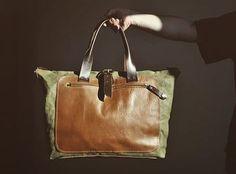 Big leather weekender by @burtsevbags