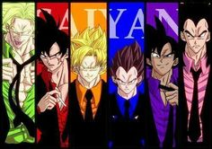 Vegeta should of been in pink... you know like a 'bad man'