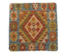 Funda de cojín kilim de lana y algodón Abia - 50x50 cm