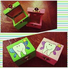 Tooth Fairy  Boxes by BoxesByRandy on Etsy, $15.00 Tooth Fairy Box, Boxes, Stuff To Buy, Etsy, Facebook, Home Decor, Decoration Home, Box, Cubbies