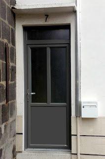 REFERENCES TOP PVC: Porte Fenêtre PVC Plaxage Gris Quartz   Imposte  .
