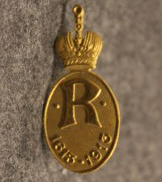 Romanov 1613-1913 badge, Alois Ritter Uniform Insignia, Badge, Christmas Ornaments, Holiday Decor, Christmas Jewelry, Christmas Decorations, Badges, Christmas Decor