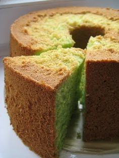 nothing like Malaysian Pandan Chiffon Cake for #tea. Childhood memories live on #christinaarokiasmay