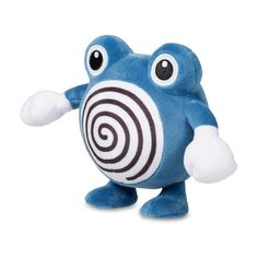 Official Poliwhirl Poké Plush stands 9 inches tall, with hypnotic belly swirl and embroidered eyes. Pokémon Center Original design.