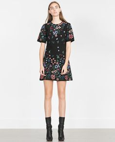 Image 1 of EMBROIDERED DRESS from Zara