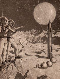 /via Attila Nagy #retro #space #exploration #illustration #1950s