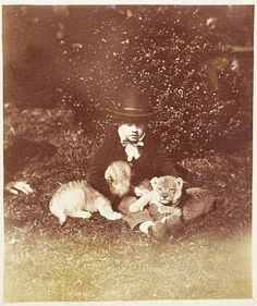 1850s A child with his cubs.