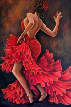 This is a fine art giclee reproduction of my original painting Flamenco Dancer printed on canv Spanish Dancer, Spanish Art, Art And Illustration, Art Espagnole, Dance Paintings, Dancer Drawing, Female Art, Diy Art, Art Projects