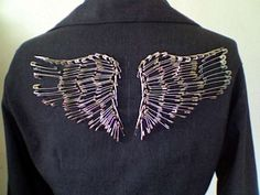 Safety pin wings
