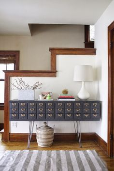 DIY: Card Catalog Credenza Tutorial by Oakland Avenue