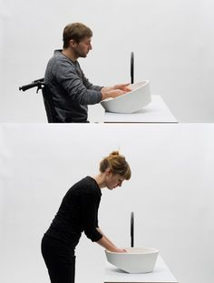 One Wash tilting sink by Gwenolé Gasnier