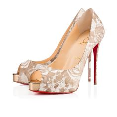 Women Shoes - New Very Prive Patent Porcelaine - Christian Louboutin