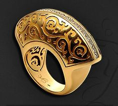 Carrera Cordoba ring 18K Yellow Gold  - for my pointer finger / right hand.  Spectacular, bold, artistic, unique, LOVE!!