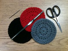 Super cute crocheted coasters!  These work up in about 20 minutes. Great little stocking stuffer or shower gift.
