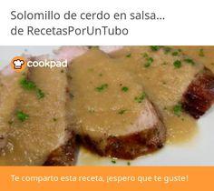 Solomillo de cerdo en salsa de manzana Carne, Beef, Chicken, Food, Pork Sirloin Recipes, Sauces, Apple Salsa, Meat, Essen