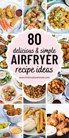 Here are delicious and healthy air fryer recipes that your family will just love. These easy best air fryer recipes are a guaranteed hit! Cookbook Recipes, Lunch Recipes, Dinner Recipes, Healthy Recipes, Yummy Recipes, Easy Weeknight Dinners, Easy Meals, Best Party Appetizers, Best Air Fryers