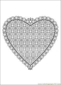 valentine's day coloring pages | Coloring Pages Valentine Day Coloring 19 (Holidays > Valentine's Day ...