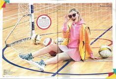 Hunter Original CORE Vinyl Smock featured in Women's Health main fashion story – Body Popping