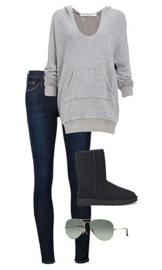 A fashion look from September 2015 featuring gray hoodie, blue skinny jeans and short black boots. Browse and shop related looks.