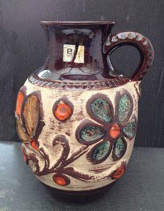 Vase Bay WGP / West German Vase Bay Keramik par LaMachineaBrocantes