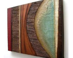 Abstract painting MODERN textured wall SCULPTURE art original acrylic painting wall hanging on canvas collage mixed media wall hanging - Malerei Unique Paintings, Nature Paintings, Art Nature, Wall Paintings, Canvas Collage, Canvas Art, Wall Sculptures, Sculpture Art, Acrylic Painting Canvas