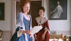 Geraldine Somerville as Lady Emily Lennox and Anne-Marie Duff as Lady Louisa Lennox in Aristocrats (1999).