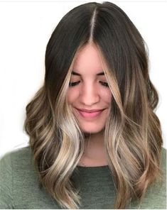 Brown hair with blonde highlights, face frame highlights, hair highlights, grey Blonde Streaks, Brown Hair With Blonde Highlights, Balayage Hair Blonde, Brunette Hair, Hair Highlights, Face Frame Highlights, Brunette Ombre, Balayage Highlights Brunette, Asian Balayage