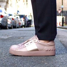Fusing feminine with tough luxe, highlight the classics with a high-shine stripe and signature #Valentino rockstuds.  Online now, instore soon. #BrownsFashion #Sneaker #Streetstyle #NewIn #BrownsOnline
