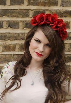 Handmade Red Rose Flower Headdress Crown   Nancy Smith   ASOS ...319 x 463   26.3 KB   marketplace.asos.com