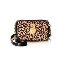 Juicy Couture Robertson Haircalf Steffy Mini  Handbag (Leopard Print)