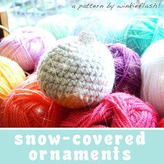 snow-covered ornaments by Marinke Slump Free