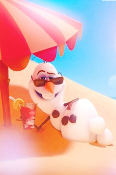 Olaf - frozen - disney wallpaper - in summer