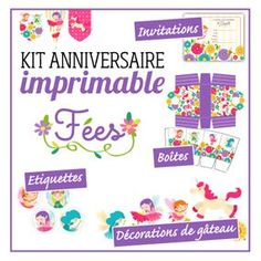 Kits anniversaire et kits fêtes Carton Invitation, Kit, Activities, Inspiration, Illustrations, Printable, Colors, Biblical Inspiration, Illustration