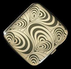 silver cigarette case, Koloman Moser