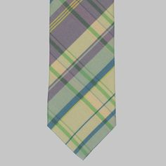 Silk popeline tartan tie from the latest collection of Drake's. Tartan Tie, Tie Colors, British Style, Silk Ties, Creative Director, Drake, Classic, Shop