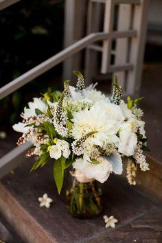 Wild White Green Bouquet