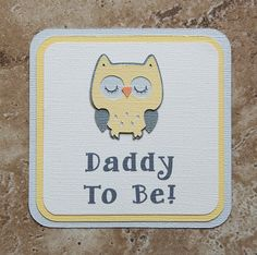 Owl Theme male Button Pin yellow and grey for by lovetiesbymeggin, $3.50