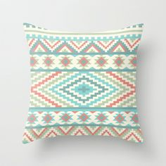 Obsessed with this website - Friendship Bracelet Throw Pillow by Rachel Caldwell - $20.00