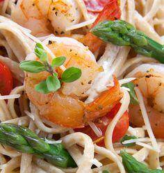 Shrimp and Asparagus Linguini | The Cooking Mom