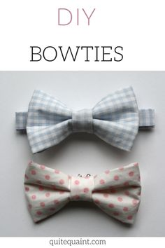 DIY children's bowtie. Easy, simple, and completely adorable!!