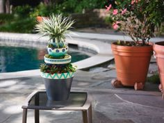 Cool Off Stacked #Flower #Pots