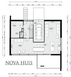 moderne kubistische woning met strenge strakke gevels energieneutraal bouwen nova huis k226 - Mehrfamilienhaus Grundriss Beispiele