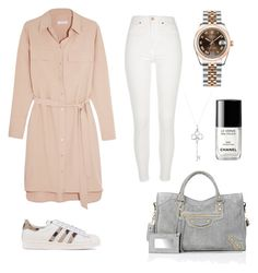 """""""lighty"""" by fatimah42 on Polyvore featuring Equipment, River Island, Rolex, adidas Originals, Tiffany & Co., Chanel and Balenciaga"""
