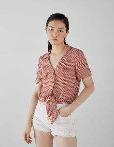 Buttones shirt - Bershka  fashion  product  accesories  cool  trend  trendy 666c80c38e6