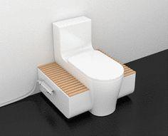The Sabine Schober toilet uses the Terra Preta Sanitation technology, which… Toilet And Bathroom Design, Tiny House Bathroom, Modern Bathroom Design, Bathroom Interior Design, Design Studio, House Design, Design Design, Toilette Design, Small Bathroom Organization